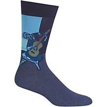 Hot Sox Men's Old Guitarist Socks