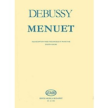 Editio Musica Budapest Menuet (Cello and Piano) EMB Series Composed by Claude Debussy