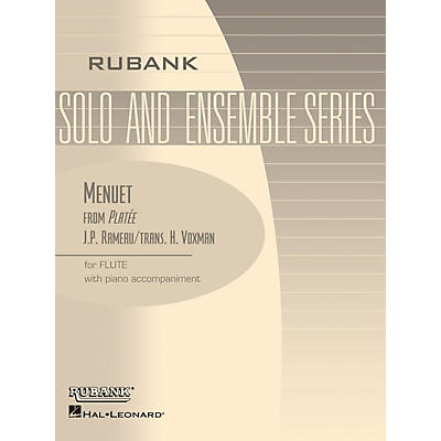 Rubank Publications Menuet from Platee (Flute Solo with Piano - Grade 2.5) Rubank Solo/Ensemble Sheet Series