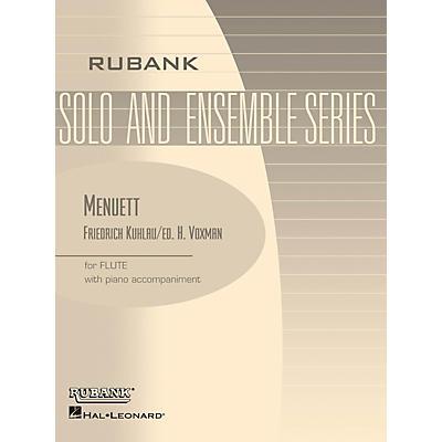 Rubank Publications Menuett (Flute Solo with Piano - Grade 2.5) Rubank Solo/Ensemble Sheet Series