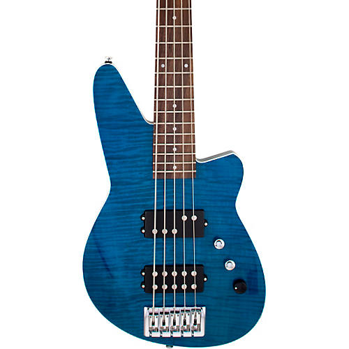 Reverend Mercalli 5FM Roasted Pau Ferro Fingerboard 5-String Electric Bass Turquoise
