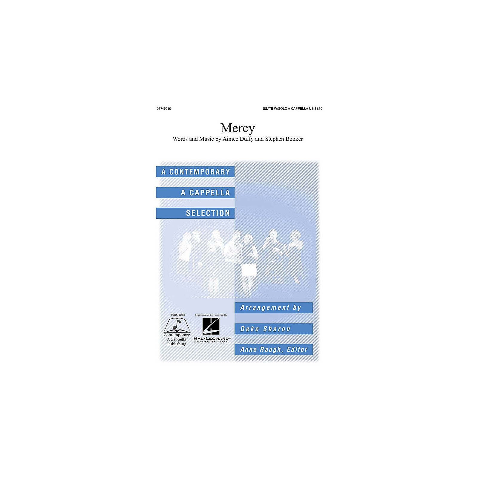 Contemporary A Cappella Publishing Mercy SSATB and Solo A Cappella by Duffy arranged by Deke Sharon