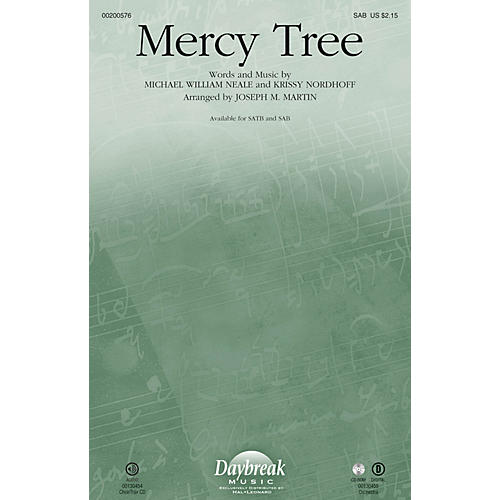Daybreak Music Mercy Tree SAB by Lacey Sturm arranged by Joseph M. Martin
