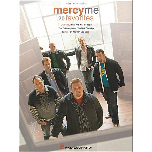 Hal Leonard MercyMe 20 Favorites Piano Vocal Guitar arranged for piano, vocal, and guitar (P/V/G)