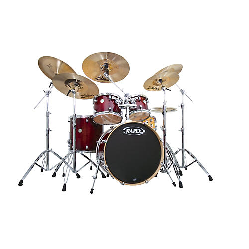 Mapex Meridian Maple SRO Shell Pack w/Matching Black Panther Snare Drum