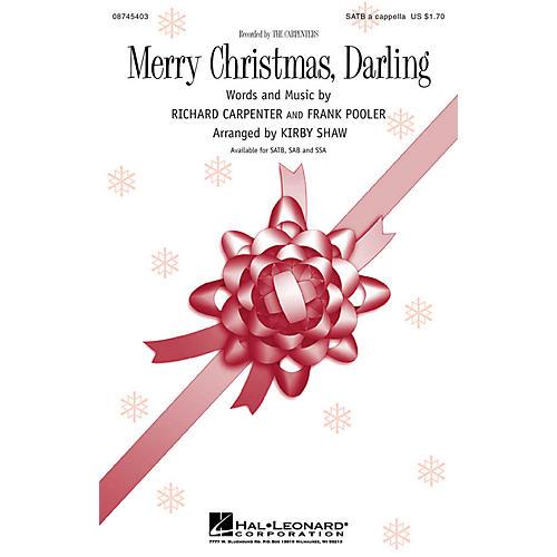 Hal Leonard Merry Christmas, Darling SAB A Cappella Arranged by Kirby Shaw