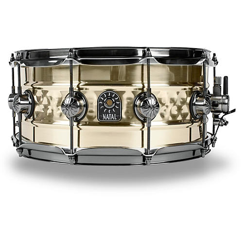 Natal Drums Meta Beaded Hand Hammered Snare 14 x 6.5 in. Brass