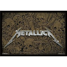 Metallica - Logo Poster Framed Black