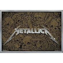 Metallica - Logo Poster Framed Silver