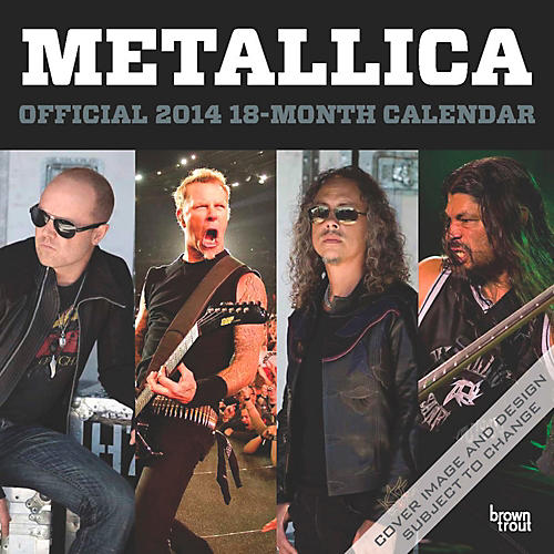 Browntrout Publishing Metallica 2014 Calendar Square 12x12
