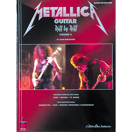 Cherry Lane Metallica Guitar Riff by Riff Volume 2 Book