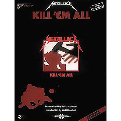 Hal Leonard Metallica Kill 'em All Guitar Tab Songbook