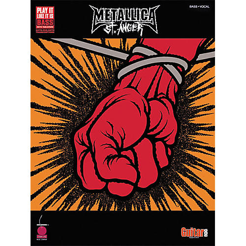 Cherry Lane Metallica St. Anger Bass Guitar Tab Songbook