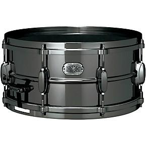tama metalworks nickel plated black steel snare drum black musician 39 s friend. Black Bedroom Furniture Sets. Home Design Ideas