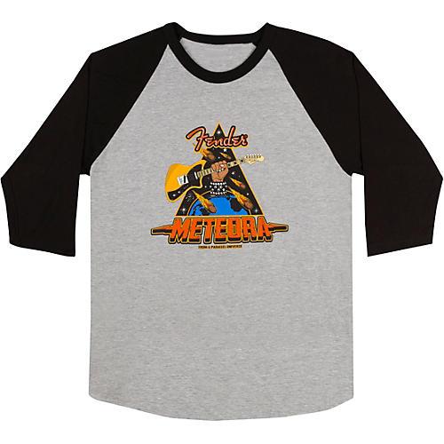 Fender Meteora Raglan T-Shirt Medium Black/Gray