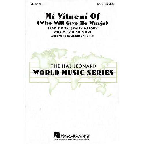 Hal Leonard Mi Yitneni Of (Who Will Give Me Wings) SAB Arranged by Audrey Snyder
