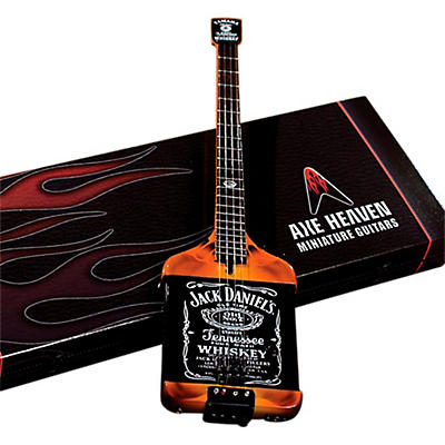 Axe Heaven Michael Anthony Jack Daniels Bass Miniature Guitar Replica Collectible