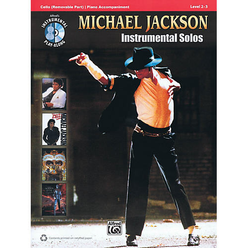Alfred Michael Jackson - Instrumental Solos Instrumental Play-Along Series Softcover with CD by Michael Jackson
