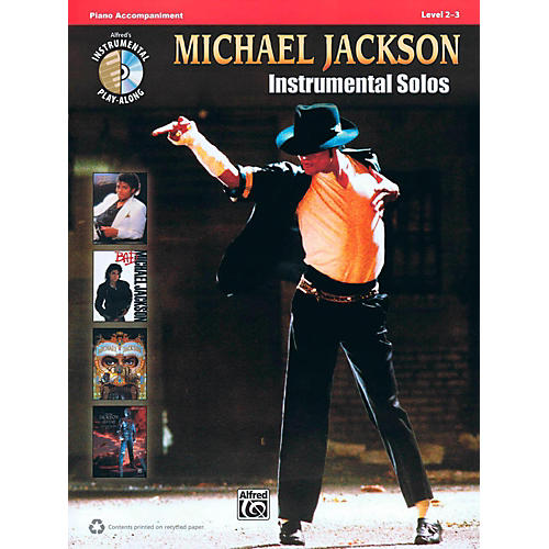 Hal Leonard Michael Jackson - Instrumental Solos Play-Along Piano Accompaniment Book/CD