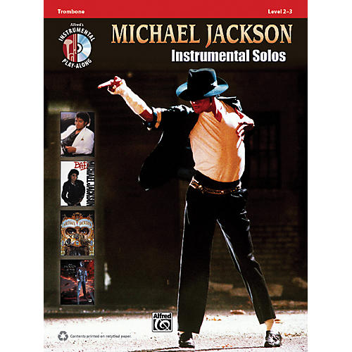 Alfred Michael Jackson Instrumental Solos Trombone Book & CD