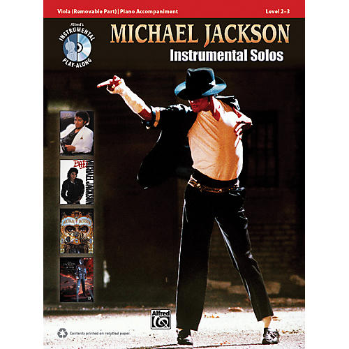 Alfred Michael Jackson Instrumental Solos for Strings Viola Book & CD
