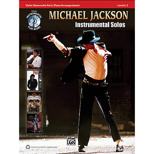 Alfred Michael Jackson Instrumental Solos for Strings Violin Book & CD