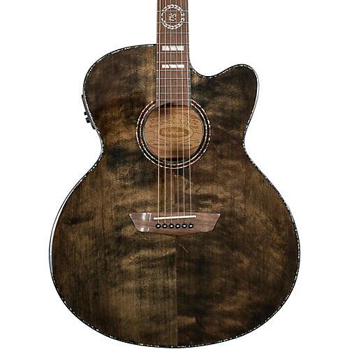 Washburn Michael Sweet J40SCE Acoustic-Electric Guitar Trans Black