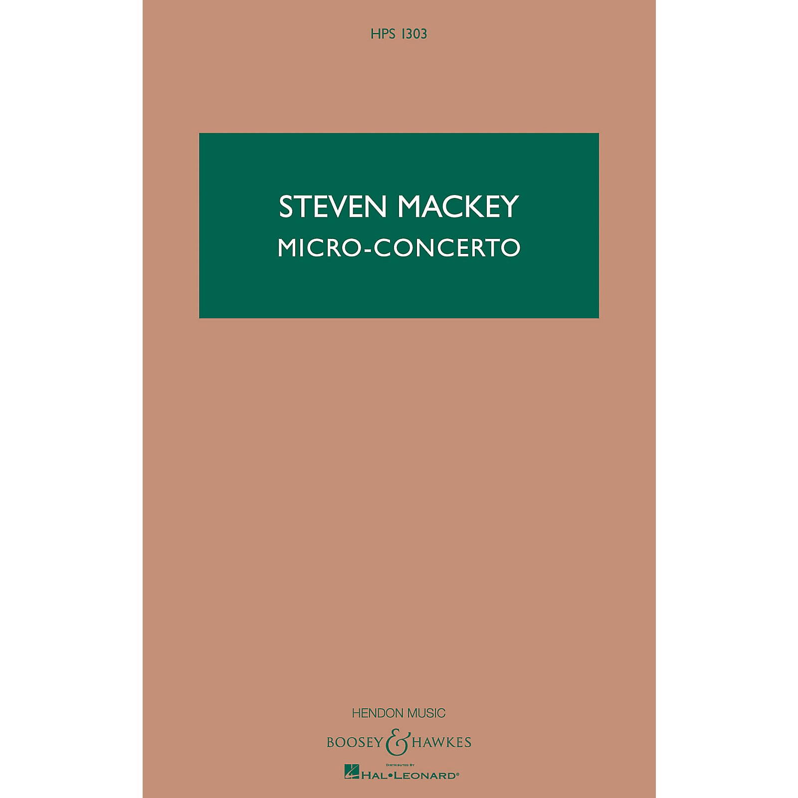 Boosey and Hawkes Micro-Concerto (Percussionist and Mixed Quintet) Boosey & Hawkes Scores/Books Series by Steven Mackey