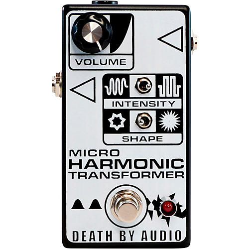 Death By Audio Micro Harmonic Transformer Fuzz Effects Pedal Black and White