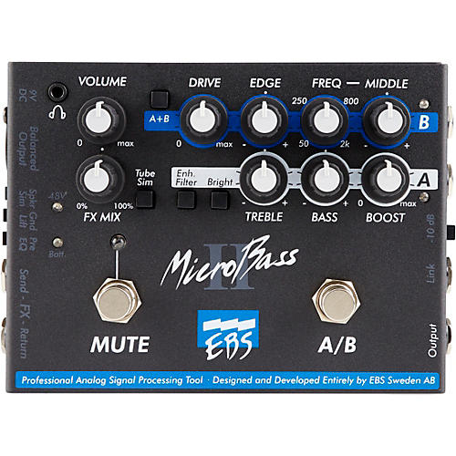 ebs microbass ii bass preamp pedal musician 39 s friend. Black Bedroom Furniture Sets. Home Design Ideas