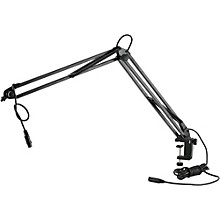 Open BoxK&M Microphone Desk Arm (Clamping) w/ XLR Connector