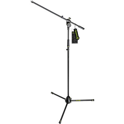 Gravity Stands Microphone Stand With Folding Tripod Base 2-Point Adjusting Boom