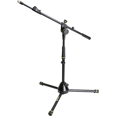 Gravity Stands Microphone Stand With Folding Tripod Base And 2-Point Adjustment Telescoping Boom Short