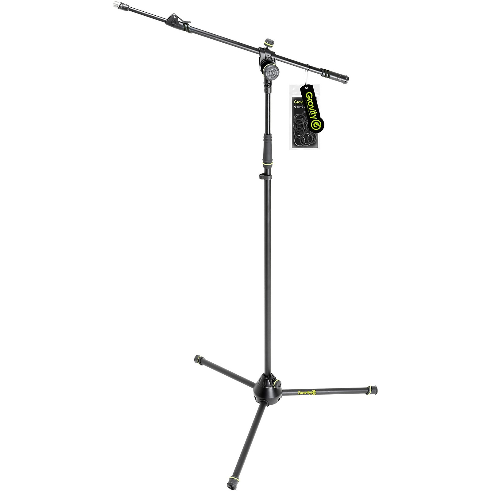 Gravity Stands Microphone Stand With Folding Tripod Base And 2-Point Adjustment Telescoping Boom