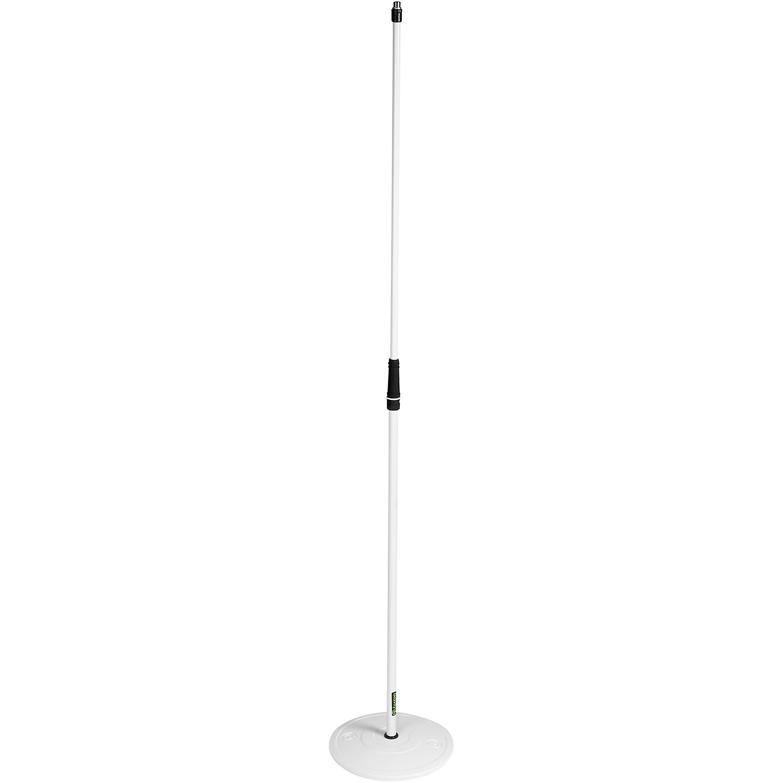 Gravity Stands Microphone Stand With Round Base - White