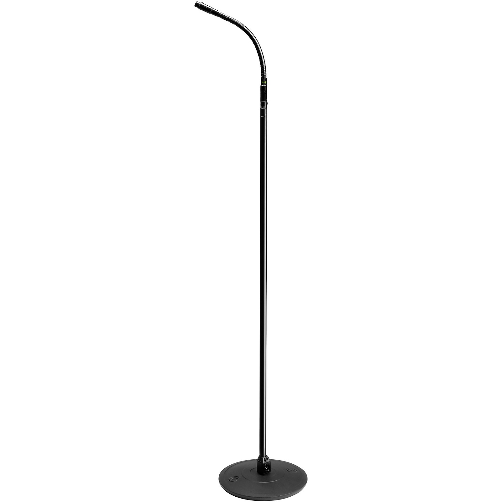 Gravity Stands Microphone Stand With Round Base, XLR Connector and Gooseneck