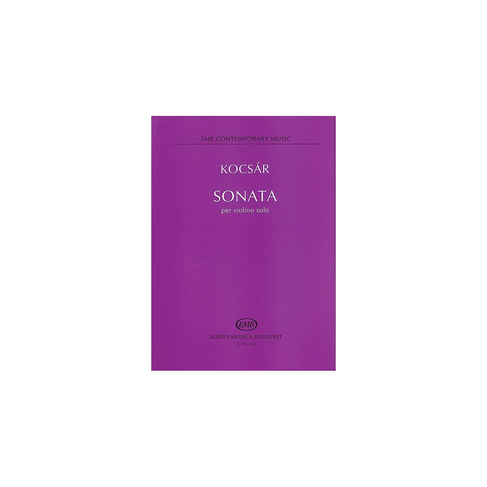 Editio Musica Budapest Miklós Kocsár - Sonata for Violin EMB Series Composed by Miklós Kocsár