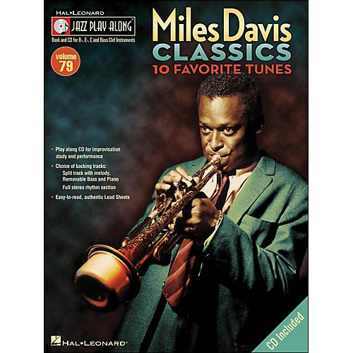 Hal Leonard Miles Davis Classics Jazz Play-Along Volume 79 Book/CD