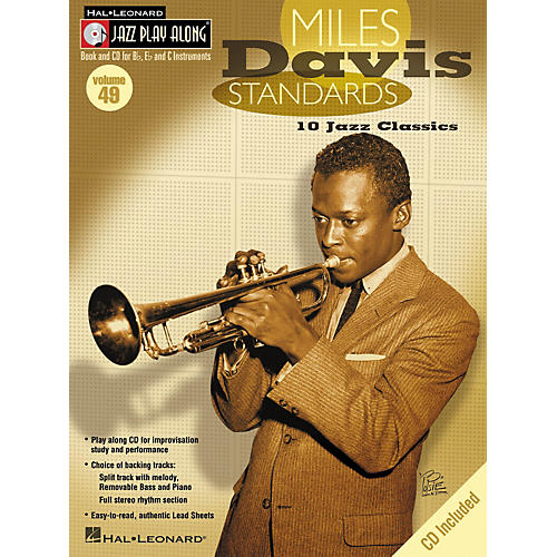 Hal Leonard Miles Davis Standards - Jazz Play Along Volume 49 Book with CD