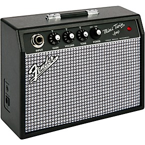 fender mini 39 65 twin 1w 2x3 guitar combo amp black musician 39 s friend. Black Bedroom Furniture Sets. Home Design Ideas