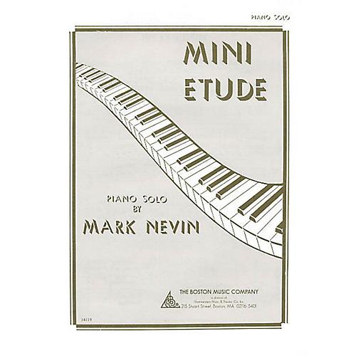 Boston Music Mini Etude Music Sales America Series Composed by Mark Nevin