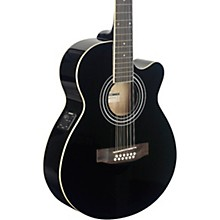 Open BoxStagg Mini-Jumbo Electro-Acoustic Cutaway 12-String Concert Guitar