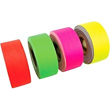 American Recorder Technologies Mini Roll Gaffers Tape 1 In x 8 Yards - Green, Yellow, Pink, Orange