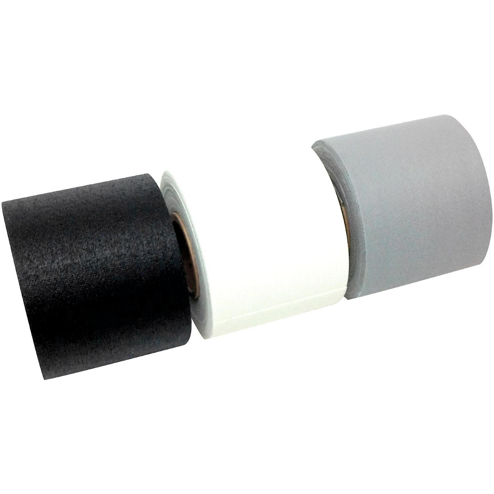 American Recorder Technologies Mini Roll Gaffers Tape 2 In x 8 Yards - Black, White, Gray
