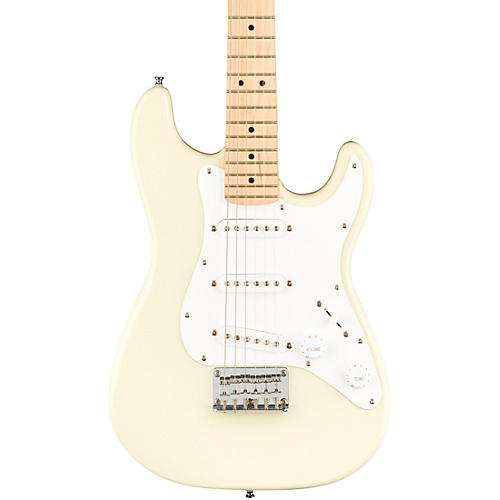 Squier Mini Stratocaster Maple Fingerboard Limited Edition Electric Guitar Olympic White