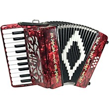 Open Box SofiaMari Mini Traveler Accordion - Red Pearl