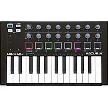 Open Box Arturia MiniLab MkII Keyboard Controller and Software Bundle Limited Black Edition