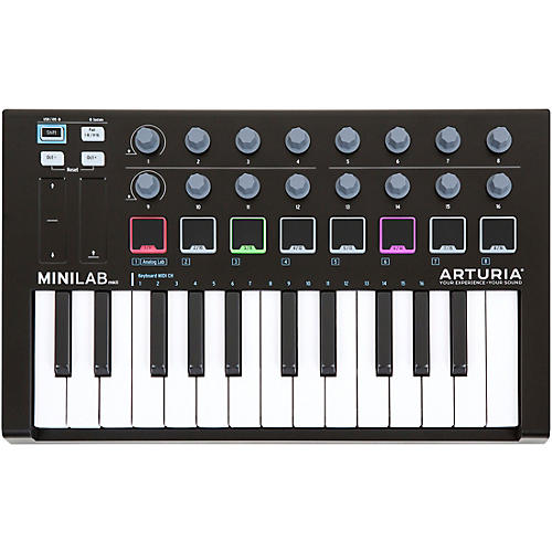 Arturia MiniLab Keyboard Controller and Software Bundle Limited Black Edition