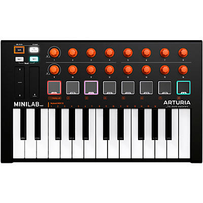 Arturia MiniLab MKII Mini Hybrid Keyboard Controller Orange Edition