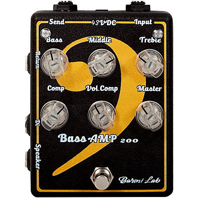Baroni Lab Miniamp BASS 200W RMS Effects Pedal